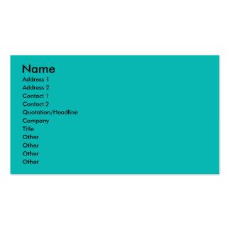 Aqua Business Cards