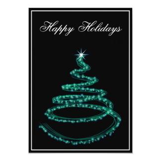 "aqua Business Holiday Greetings 5"" X 7"" Invitation Card"
