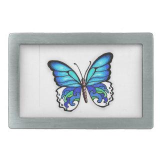 Aqua Butterfly Belt Buckle