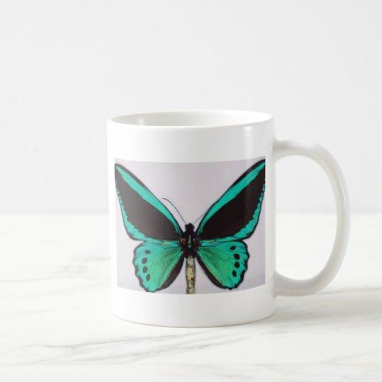 Aqua Butterfly Coffee Mug