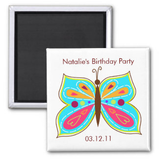 Aqua Butterfly Party Favor Magnets
