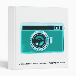Aqua Camera Photography Business Binder
