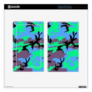 Aqua Camouflage Kindle Fire Skin