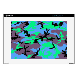 Aqua Camouflage Laptop Decal