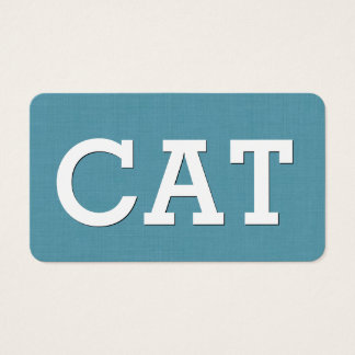 Aqua CAT SITTING Simple Style V63K Business Card