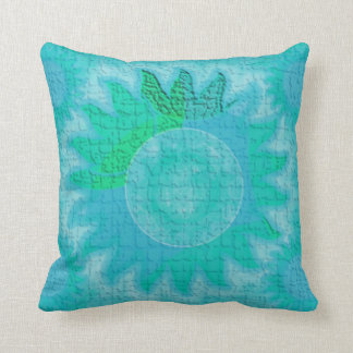 Aqua Celestial Sun Pillows