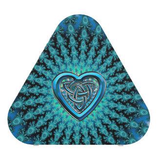 Aqua Celtic Heart Knot Fractal Mandala Speaker