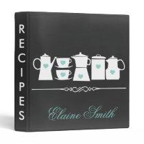 Aqua Chalkboard Kitchen Bridal Recipe Folder