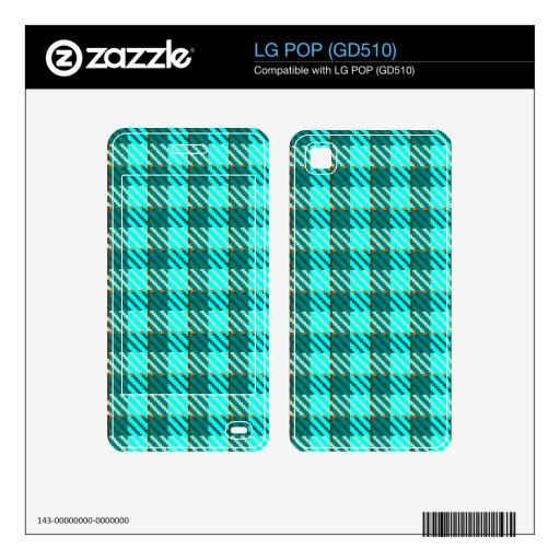 Aqua Check LG POP Skins
