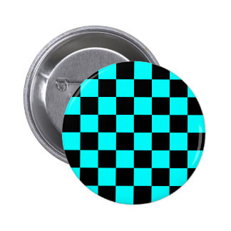 Aqua Checkerboard Button