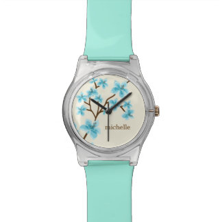 Aqua Cherry Blossoms Watch