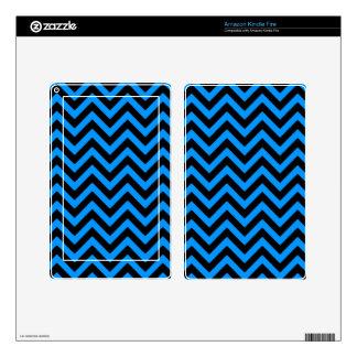 Aqua Chevron 2 Kindle Fire Decal