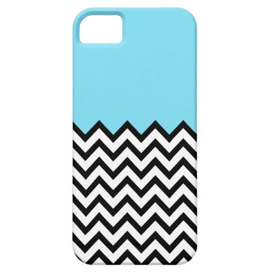 Aqua Chevron Color Block Pattern iPhone 5 Case