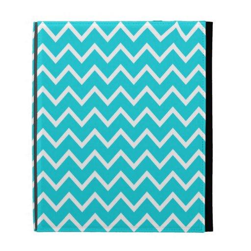 Aqua Chevron iPad Case