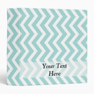Aqua  chevron pattern 3 ring binder
