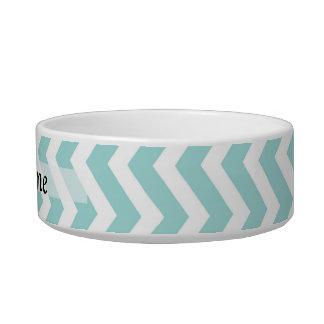 Aqua  chevron pattern bowl