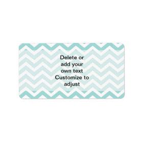 Aqua  chevron pattern custom address labels