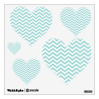 Aqua  chevron pattern wall sticker