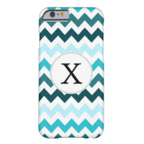 Aqua Chevron ZigZag Pattern Barely There iPhone 6 Case