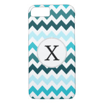 Aqua Chevron ZigZag Pattern iPhone 8/7 Case