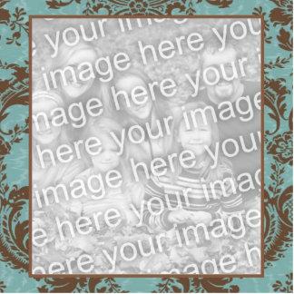 Aqua Chocolate Photo Frame Cutout