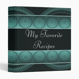 Aqua Circles Recipe Book Binder