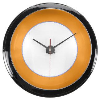 Aqua Clock Round  Strip Add TEXT PHOTO TEMPLATE
