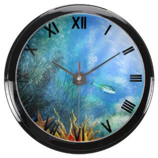 aqua clock tropical fish clock tank