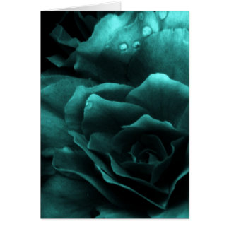 Aqua Close Up of a Double Begonia Card
