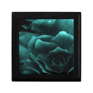 Aqua Close Up of a Double Begonia Keepsake Box