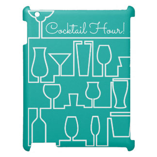 Aqua cocktail party iPad cases