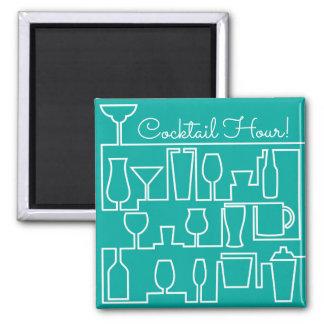 Aqua cocktail party magnet