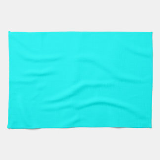 Aqua Color Background Hand Towel