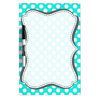 Aqua Color Polka Dots Dry-Erase Board
