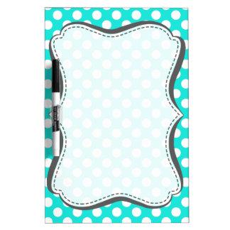 Aqua Color Polka Dots Dry-Erase Board