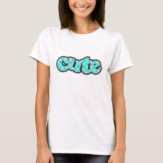 Aqua Color Turquoise Quatrefoil T-Shirt