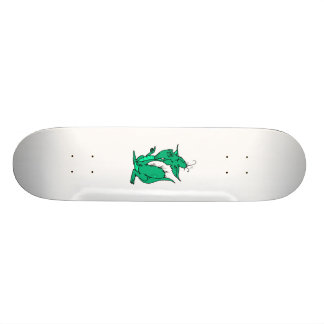 Aqua Colored Dragon Custom Skate Board