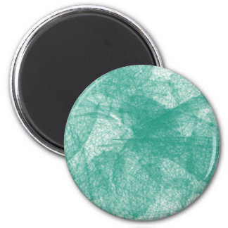 Aqua colored scribbles 2 inch round magnet