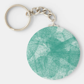 Aqua colored scribbles basic round button keychain