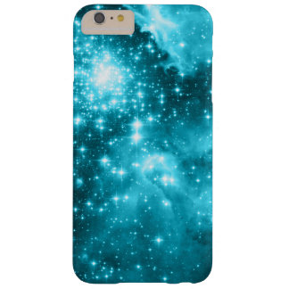 Aqua Colored Stars Barely There iPhone 6 Plus Case