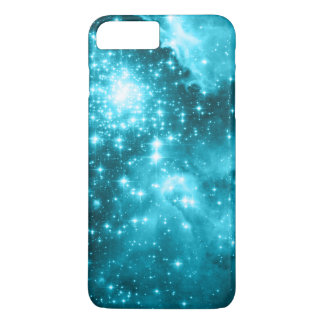 Aqua Colored Stars iPhone 7 Plus Case