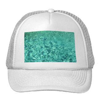Aqua Colored Water Texture Trucker Hat