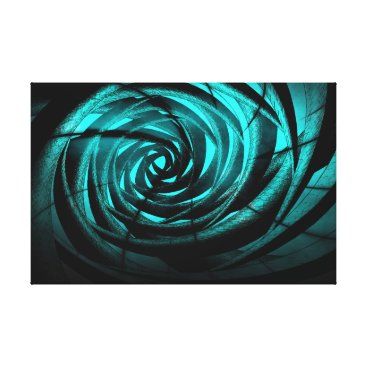 Aqua Aqua Complex Vortex - Canvas Print