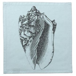 Aqua Conch Shell Cloth Napkin