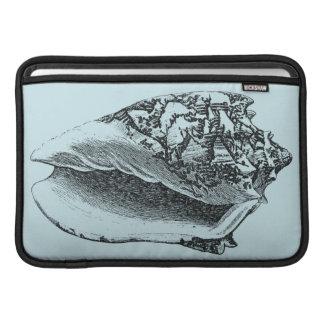 Aqua Conch Shell MacBook Air Sleeve