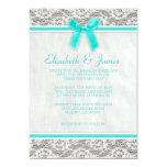 Aqua Country Lace Wedding invitations Personalized Invitations