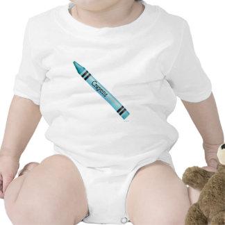 Aqua Crayon Baby Bodysuits