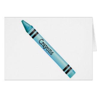 Aqua Crayon Greeting Card