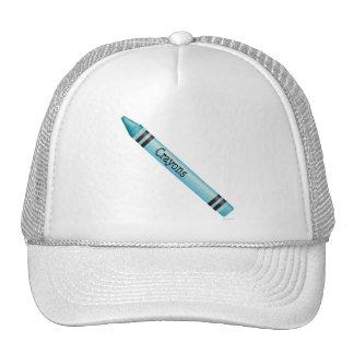 Aqua Crayon Hat
