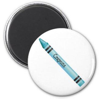 Aqua Crayon Magnets